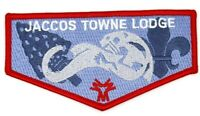 Jaccos Towne Lodge Flap Red Border Crossroads of America Council Patch OA BSA
