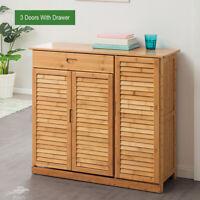2/3 Door Shoe Cabinet Drawer Entryway Hallway Storage Organizer Rack Shelf