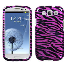 For Samsung Galaxy S III 3 HARD Protector Case Phone Cover 2D Hot Pink Zebra