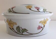 Pillivuyt Art Nouveau White Porcelain Oval Covered Casserole Dish France H821