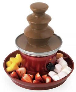 3 Tier Stainless Steel Chocolate Fountain Fruit Tray Thermostat New In Box ✅🔥