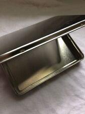 NEW Hinged Lid Metal Tin Box Single