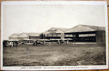 1920s French Aviation Postcard: Camp de Mourmelon, Hangars, Biplanes/Airplanes