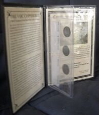 Dutch East Indies (VOC) Java 4 Duits Coins of the 1700's & Info + CoA in Folio