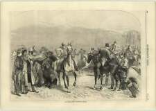 1866 Charming Sketch Of The Horse Market, Kingston On Thames