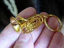 (M-203-C) EUPHONIUM Key chain ring keychain 24k gold plt jewelry horn ring horns