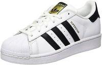 Adidas Superstar J White/Black/White (GS) (C77154)