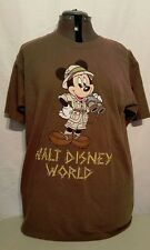 Disney World Exclusive - Adventures in the Wild Mickey Mouse T-Shirt Brown Large