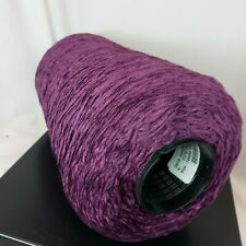 Rayon Chenille Yarn 2010 ypp Weaving Knitting Crocheting Brilliant Purple