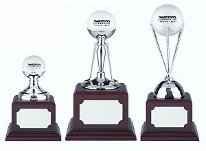 Golf Trophies - Hole In One Awards (Non Tarnish Nickel Plated - 3 Options)