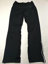 Womens NIKE Black Biking Running Ankle Zip Pants Sz S Reflectors