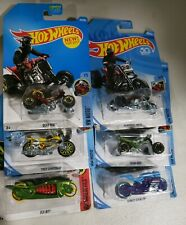 Hot Wheels Motor Bikes- Quad Rods , Tred Shredder, Street Stealth, Fly- By *New*