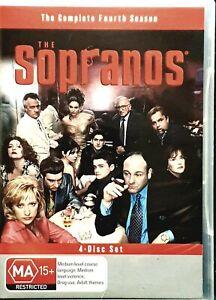 The Sopranos: Season 4 (DVD, 4 Disc Set) PAL Region 4 - Brand New!!