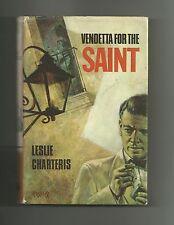 Vendetta for the Saint by Leslie Charteris (Hardback/Dust Jacket 1965) Book Club