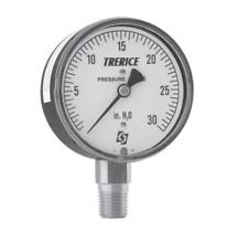 "2.5"" Pressure Gauge, Lower Conn. 1/4"" NPT-Trerice - 0-100 PSI"