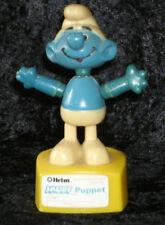 Vintage Smurf String Puppet Push Button Helm Hong Kong