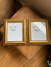 Pair Of Gold Coloured Metal Effect Picture Frame Photo Wall Hanging 10 X 8