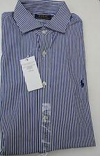 Hemd - Gr.40 - 41 US 16 - Herren Ralph Lauren blau-weiß breit Streifen - Neuware