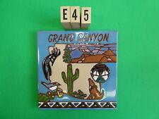 """Ceramic Art Tile 6""""x6"""" Arizona State tile Grand Canyon Saguaro coyote trivet E45"""