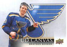 18/19 UPPER DECK UD CANVAS #C71 BRAYDEN SCHENN BLUES *59341