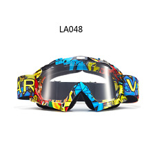 LA motocross motorbike goggles anti-fog UV clear lens MX dirt PIT trail bike