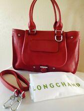 New Longchamp Balzane Saddle Leather Satchel, Tote, Shoulder Bag, Purse