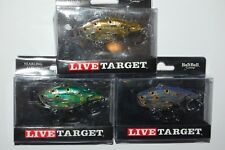 """3 lures assortment koppers live target yearling baitball 2 1/2"""" 5/8oz rat l trap"""