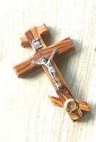 Crucifix Orthodox Jesus Russian Cross Olive Wood Made in Jerusalem Handmade