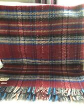 More details for vintage macnab of scotland check wool blanket throw w 55 ins l 64 ins