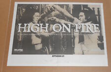 High on Fire Newspaper Tour Poster 2-Sided Promo 17x23 RARE