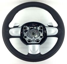 Genuine BMW Mini R56 R57 black leather steering wheel. Paddle shift. NOS 17C