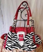 Womens Purse Handbag Red White Black Zebra Leopard Pocketbook Bag Fashion Dressy