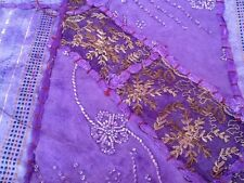 Table Runner - New - Lilac, Gold & Brown, Purple trim