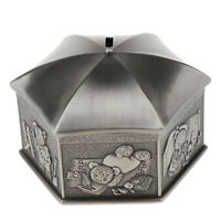 Zinc Alloy Metal Piggy Bank Money Box Saving Pot Home Decor Desktop Ornament