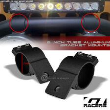 "Textured Blk 2"" Tube Bar Roll Cage Aluminum Mount Brackets For Led Light Frc G22"
