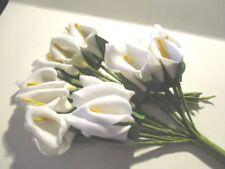24 SCRAPBOOKING FOAM FLOWERS HANDMADE CALA LILY BUNCH UK FFEW