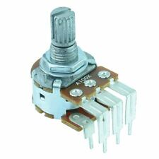 50K Linear Stereo Right Angle PCB 16mm Potentiometer Pot