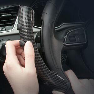 2pcs 38cm Carbon Fiber Non-Slip Steering Wheel Booster Cover Car Accessories