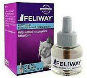 Feliway CLASSIC Cat Diffuser - (1) 30 Day Refills - 48 ml Calming Pheromone