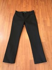 LRL Ralph Lauren Women's 6 Petite Black Denim Gold Snake Modern Slim Sparkle