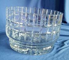 Poland Cut Crystal Ice Bucket Chiller Centerpiece Fruit Bowl 24% Lead WEDDING