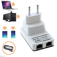 White 300mbps Wireless-N WiFi Repeater Router Signal Range Extender Amplifier