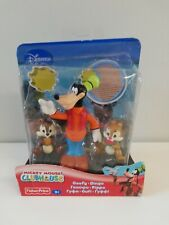 Disney Mickey Mouse Clubhouse Goofy poseable figure w/ Chip & Dale Fisher Price