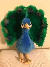 """Peacock Plush 16"""" Blue & Green ~ FAO Toy Stuffed Animal"""