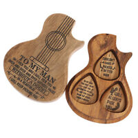 3Pcs Wood Guitar Pick Acoustic Electric Bass Guitar Parts & Accessories with DS