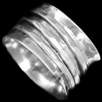Handmade solid 925 sterling silver Band Spinner Ring jewelry All Size ASHU-004