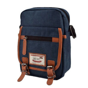 Everyday Deal 802 Mens Sling Messenger Crossbody Bag (Blue)