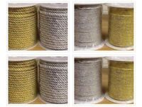 Metallic Cord Rope Lurex Gold or Silver 3mm 5mm and 7mm