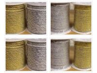 Metallic Cord Rope Lurex Gold or Silver 3mm 5mm and 7mm Short or Long Lengths