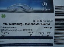 TICKET UEFA CL 2015/16 VfL Wolfsburg - Manchester United